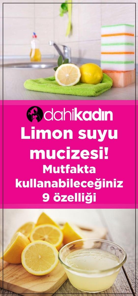 Limon suyu mucizesi! Mutfakta kullanabileceğiniz 9 özelliği