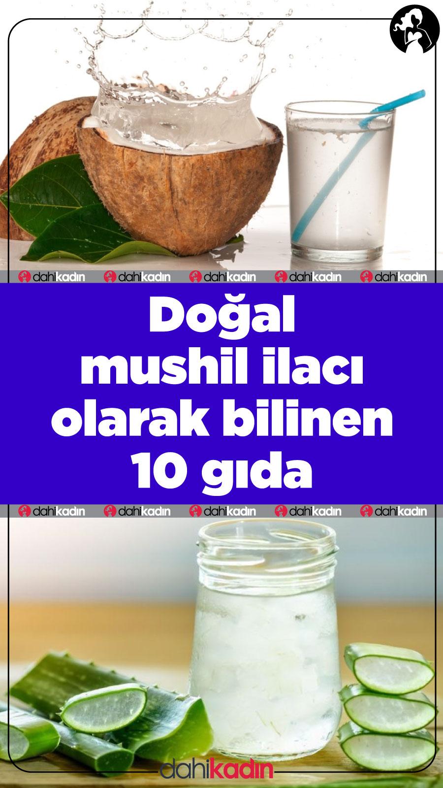 Doğal mushil olarak bilinen 10gıda