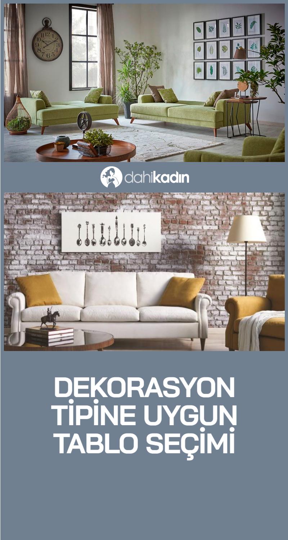 Dekorasyon tipine uygun tablo seçimi - Ev Dekorasyonu