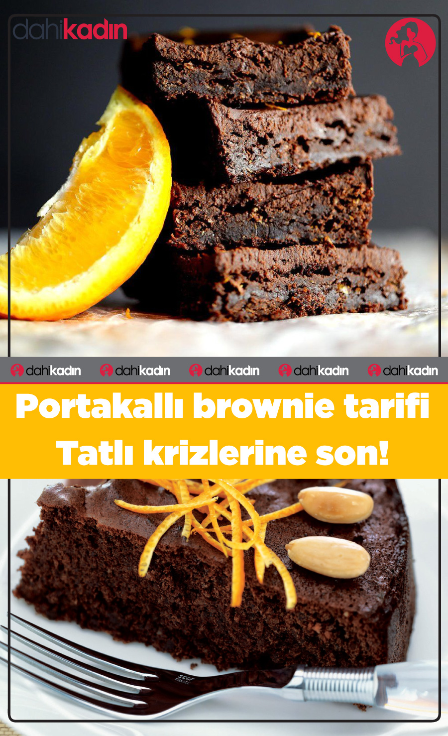Portakallı brownie tarifi Tatlı krizlerine son!