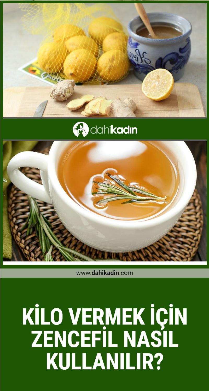 Kilo vermek için zencefil nasıl kullanılır? Zencefil çayı nasıl yapılır!