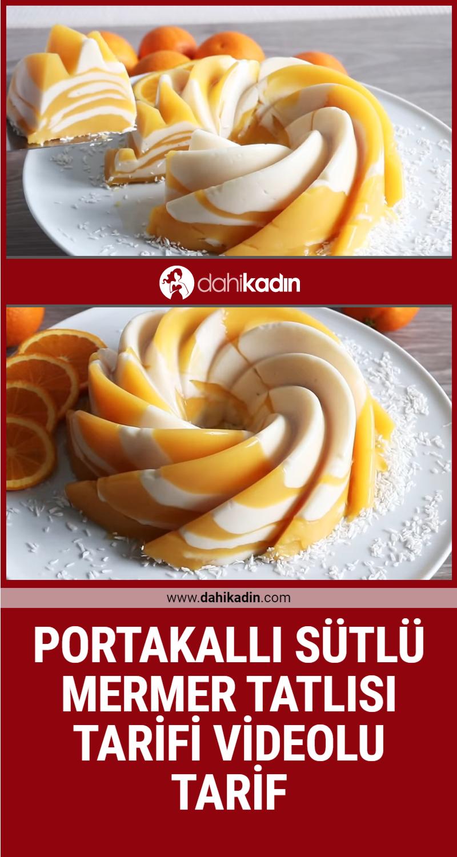 Portakallı sütlü mermer tatlısı yapılışı Videolu tarif