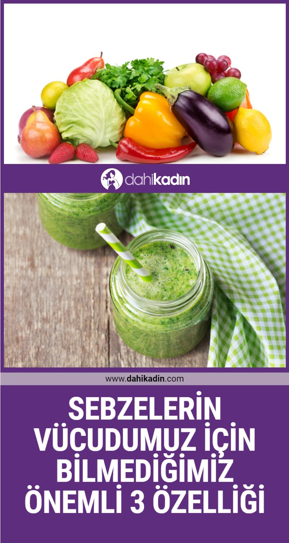 Sebzelerin vücudumuz için bilmediğimiz önemli 3 özelliği